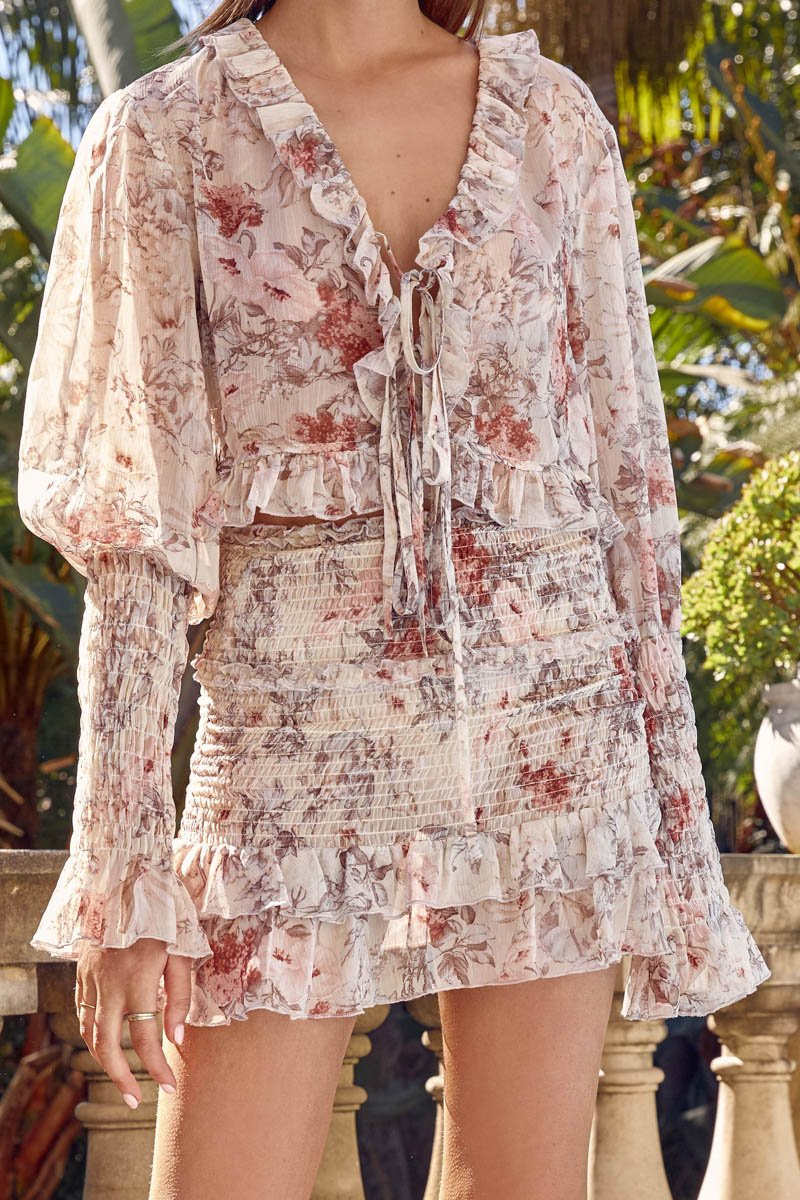 DREAMZ TOP - CREAM FLORAL