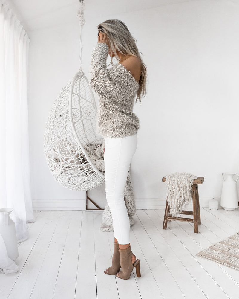 ELKIE KNIT MOCHA MIX