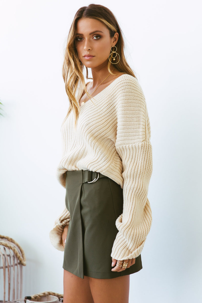 FRENCHY SKIRT KHAKI