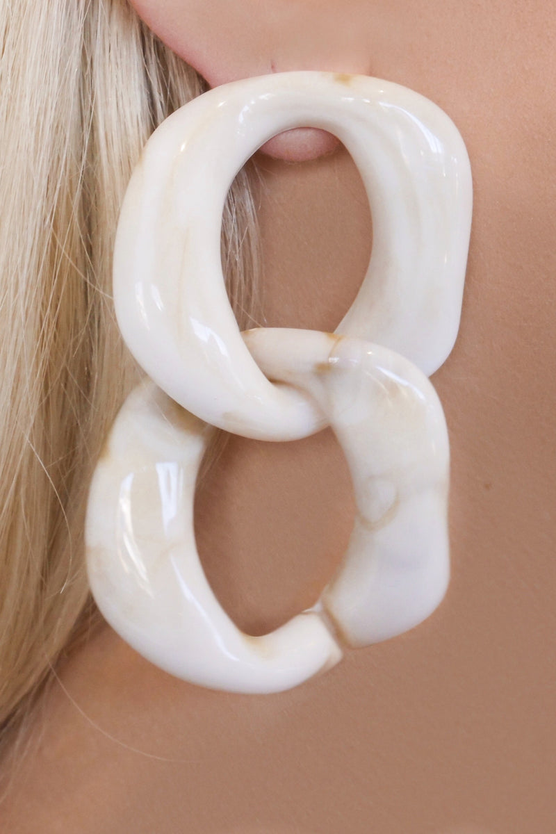 INDRE EARRINGS - WHITE SHELL