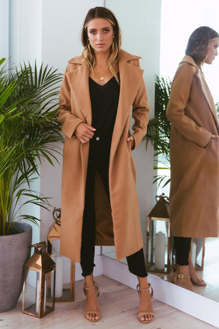 MOSCOW CROP COAT - CAMEL
