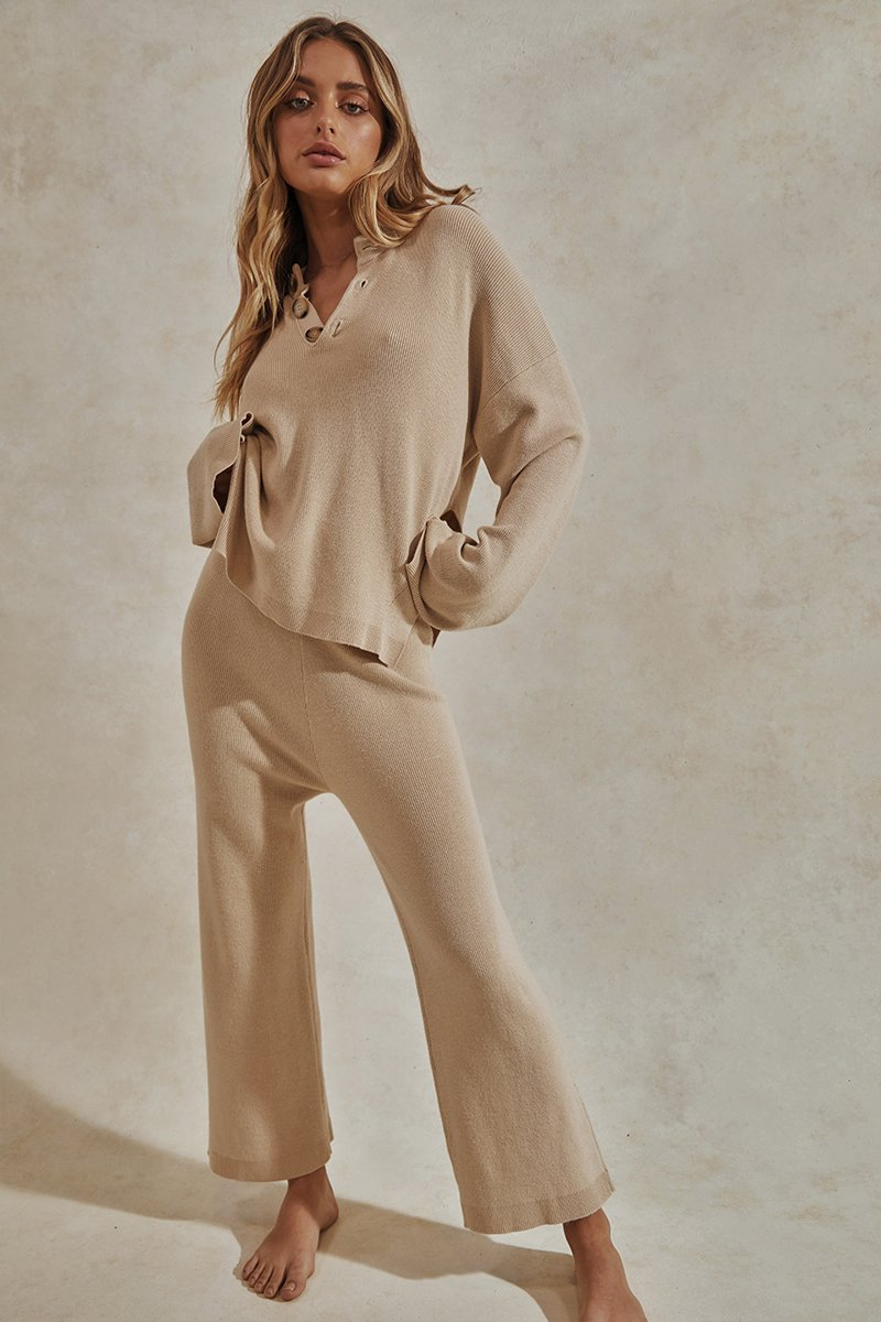 HERO KNIT PANTS - TAN