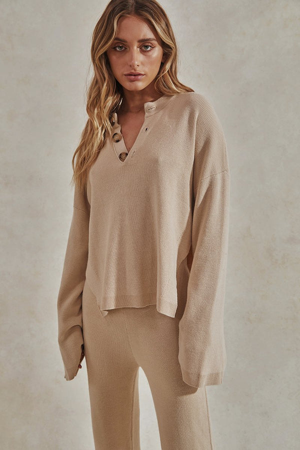HERO KNIT TOP - TAN