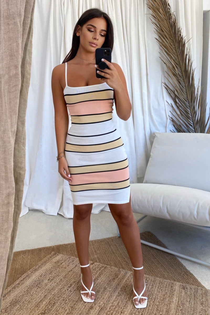 FLORIDA MINI DRESS  - STRIPE