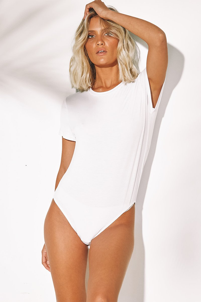 JOY TEE BODYSUIT - WHITE
