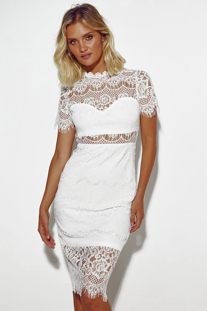JULIETTE MIDI DRESS - WHITE