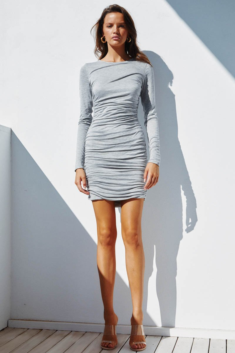 LILIYA DRESS - GREY