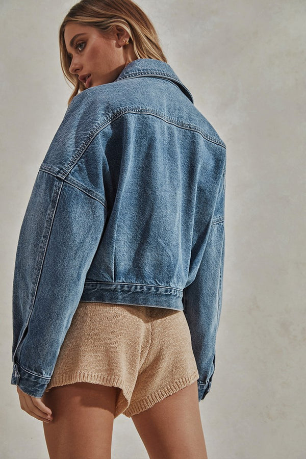 LAURENT DENIM JACKET - BLUE WASH