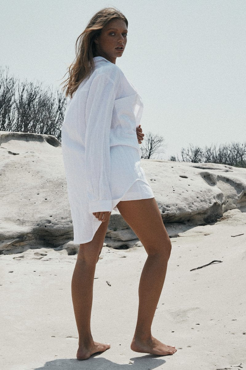LEOPOLD OVERSIZED SHIRT 2.0 - WHITE - PREORDER