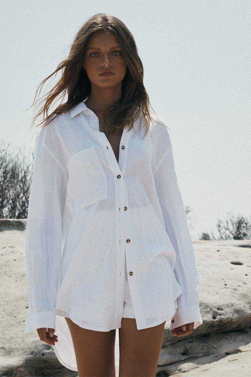 LEOPOLD OVERSIZED SHIRT 2.0 - WHITE