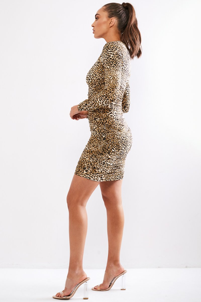 LILIYA DRESS - LEOPARD