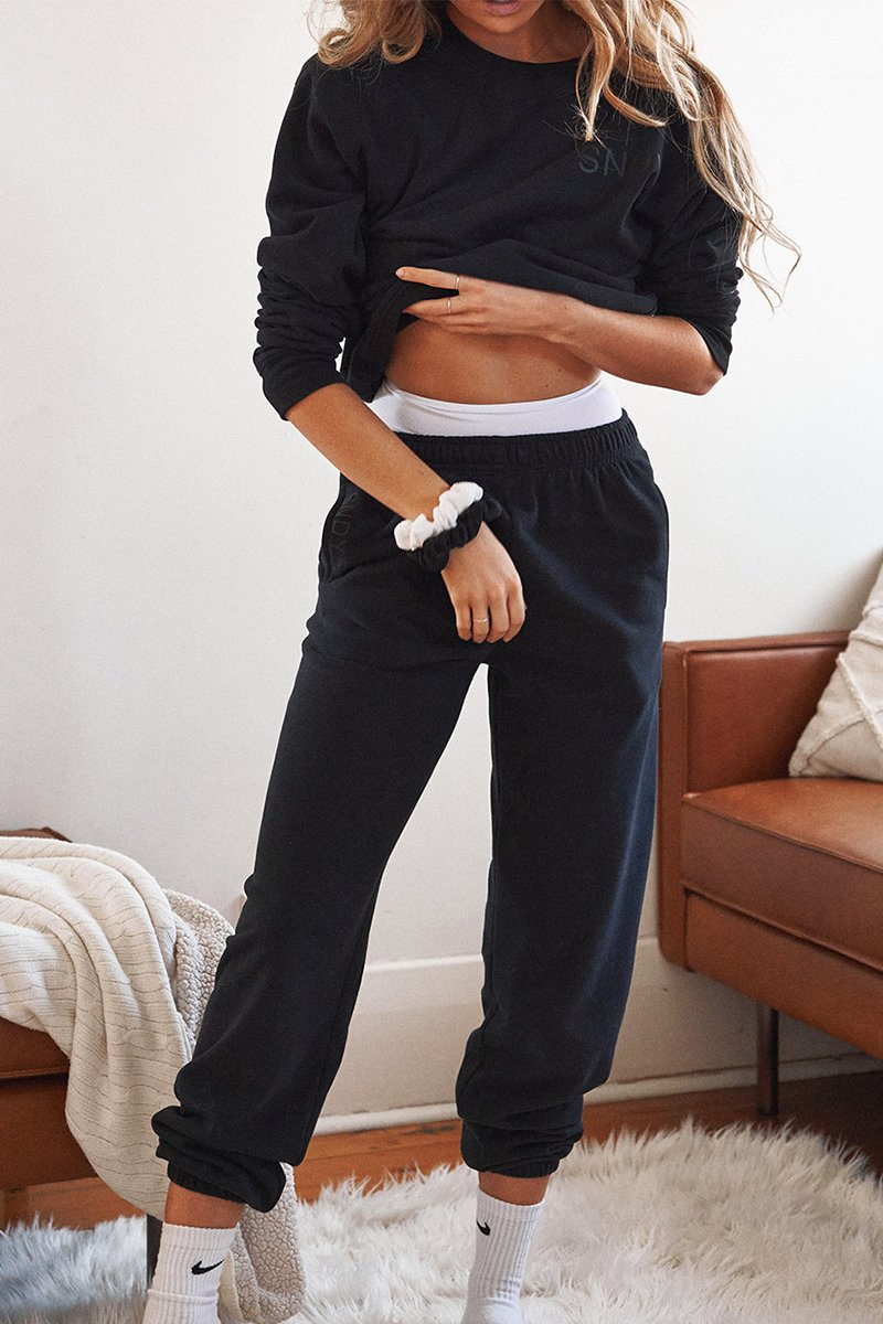 LUXE SWEATPANTS - BLACK