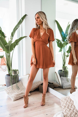 MEENA DRESS - TERRACOTTA