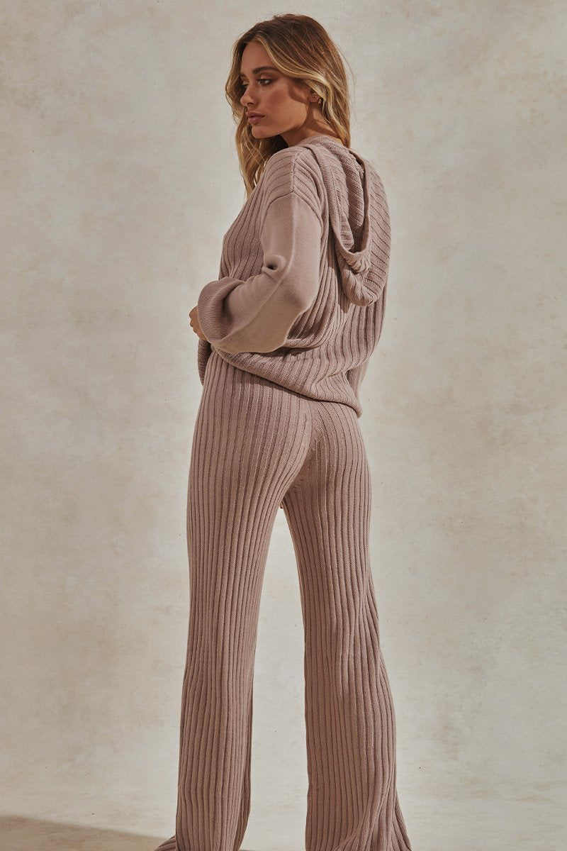 HENDRIX KNIT PANTS - MAUVE