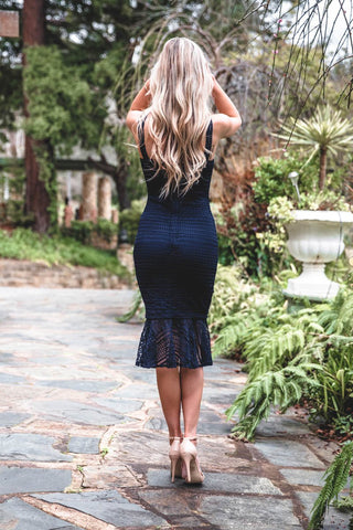 POPPY DRESS NAVY