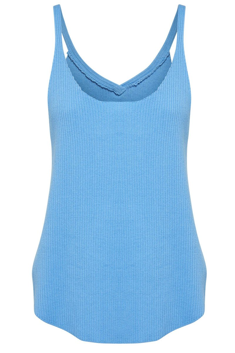 GOLDIE RIBBED TANK - BLUE