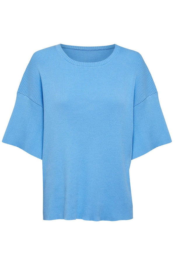GOLDIE RIBBED TEE - BLUE