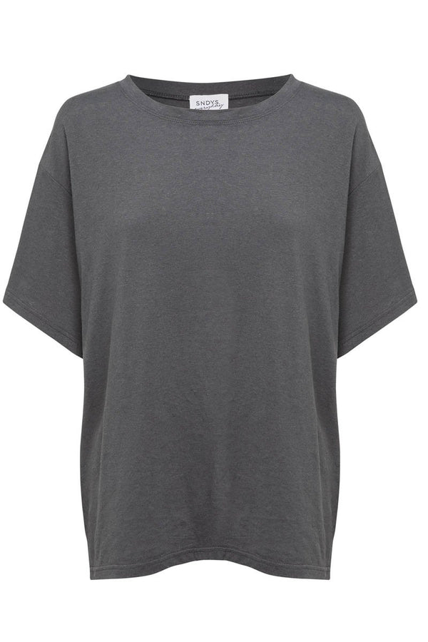 RIPE COTTON TEE - CHARCOAL