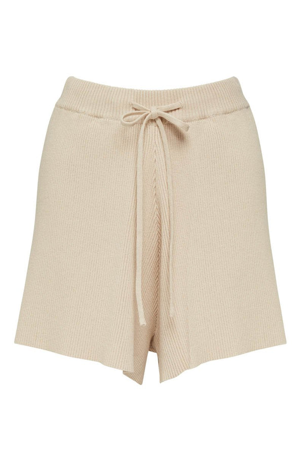 GOLDIE RIBBED SHORT - SAND