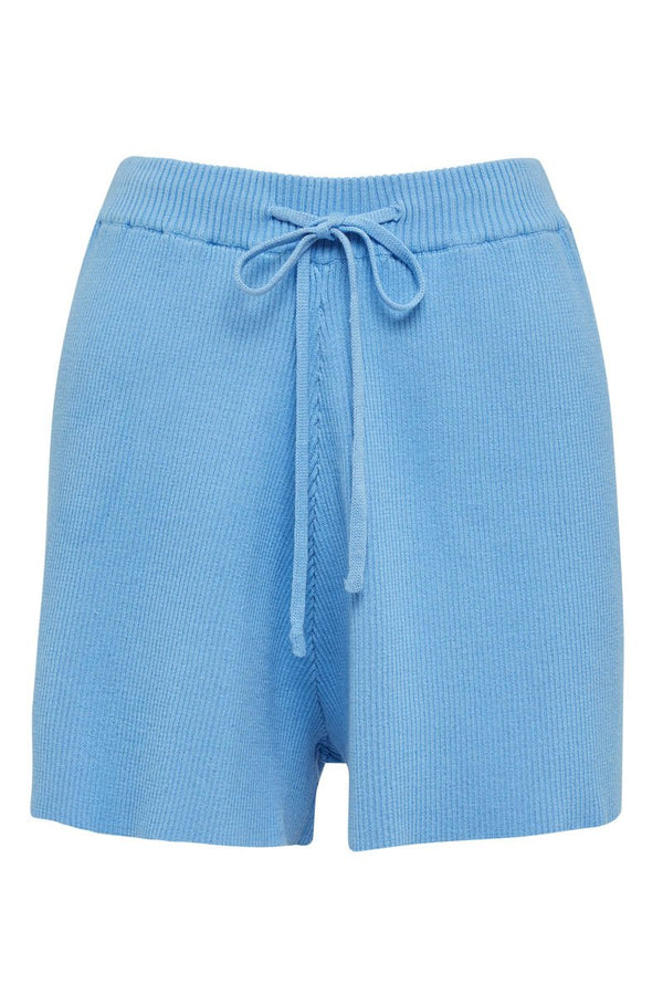 GOLDIE RIBBED SHORT - BLUE
