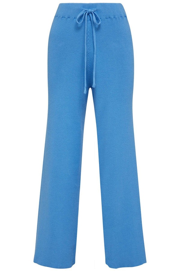 GOLDIE RIBBED PANT - BLUE