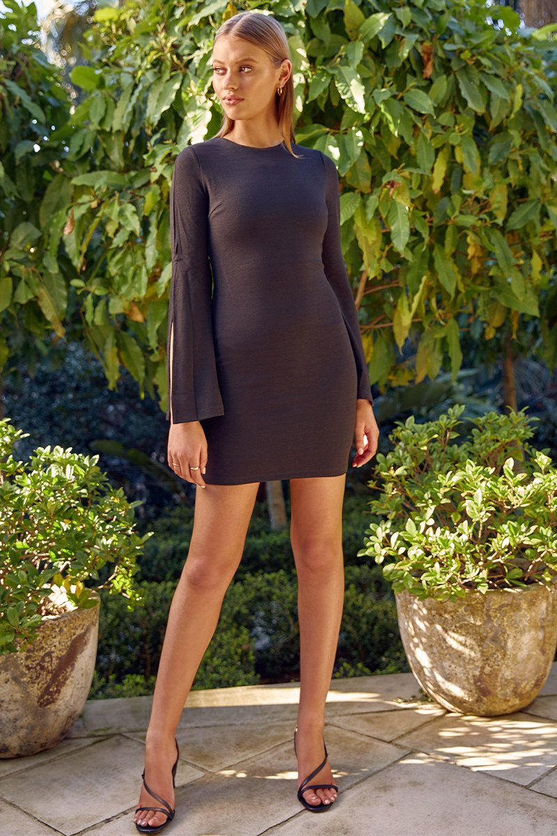 PASCAL MINI DRESS - BLACK