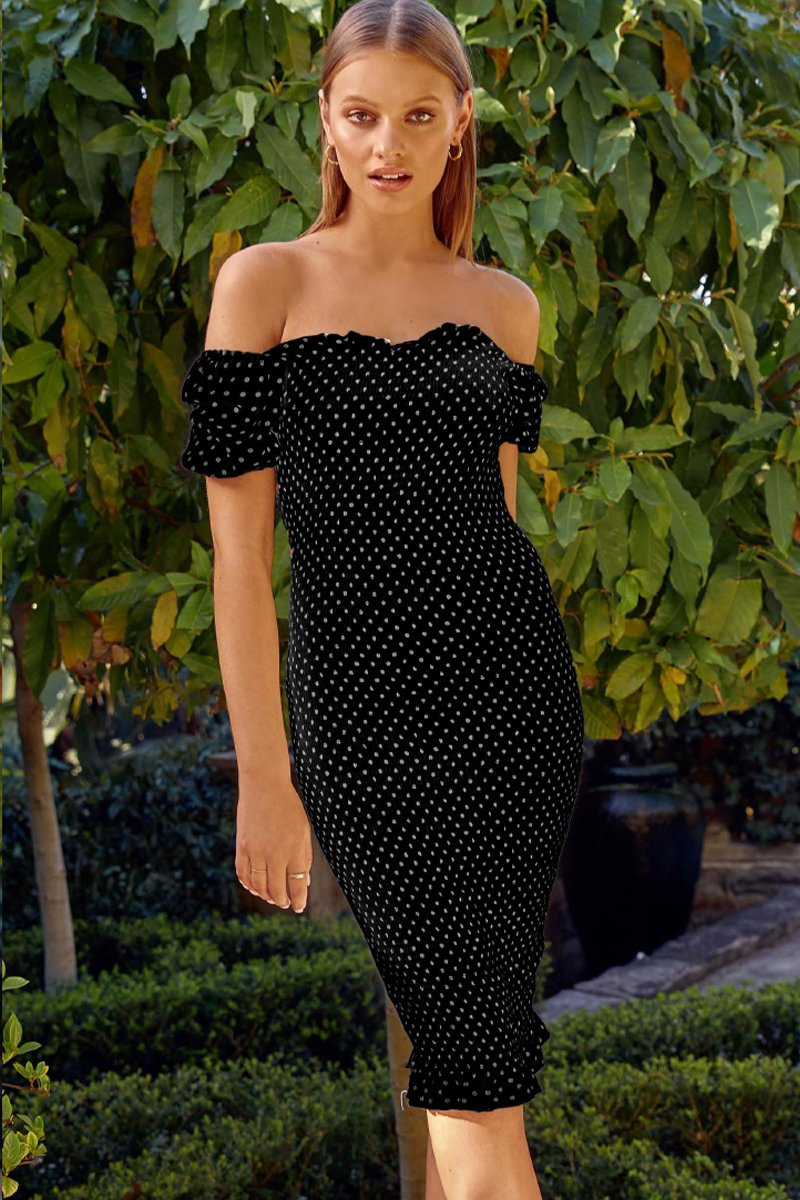 PIPA DRESS - BLACK/WHITE POLKA DOT - PREORDER