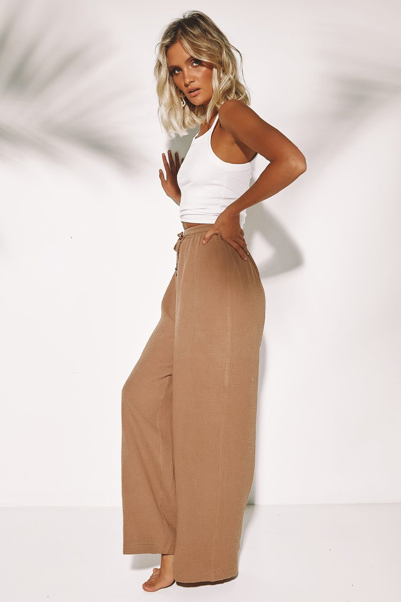 ROMA PANTS - TAN - PREORDER