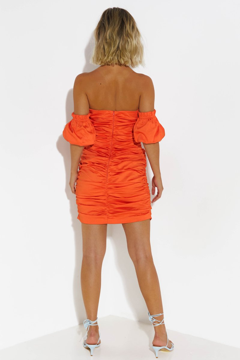 RAYMOND DRESS - TANGERINE