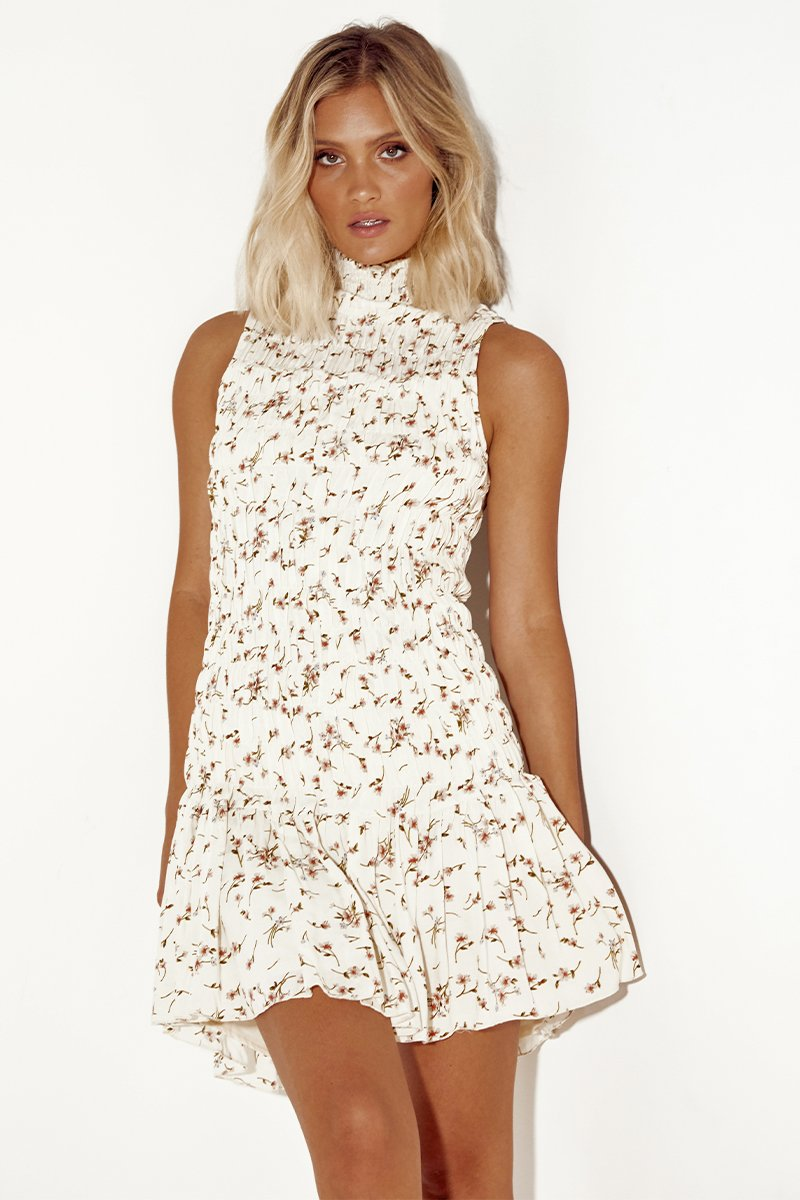 ROO DRESS - CREAM