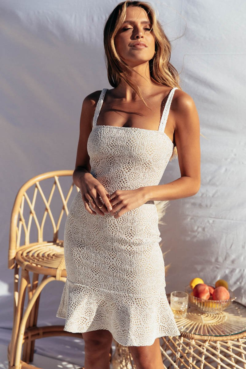 SKYLA DRESS - WHITE LACE