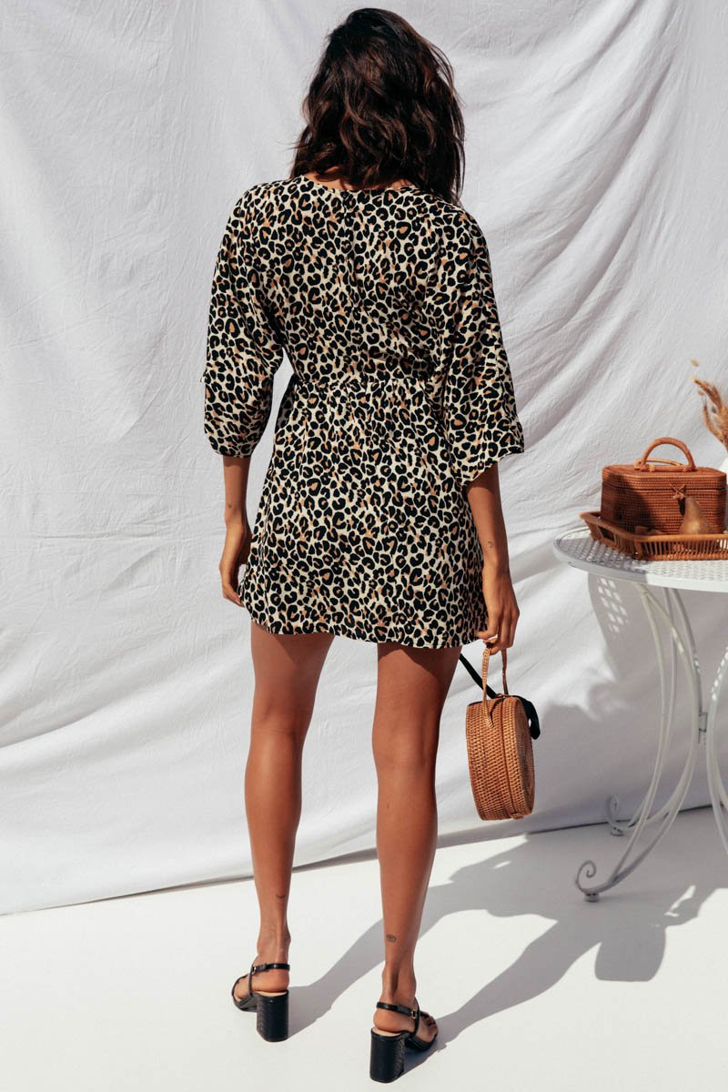 SEASONS DRESS - LEOPARD
