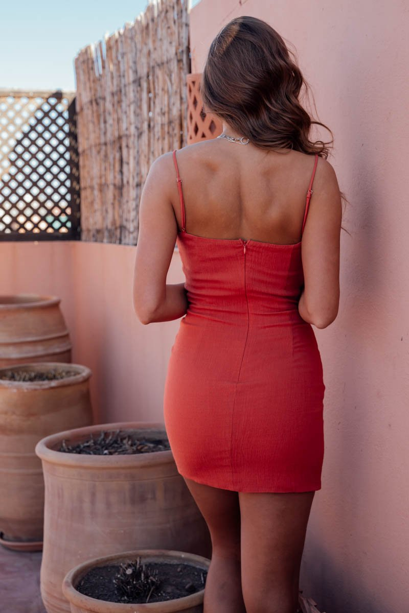 SAMMY DRESS BURNT ORANGE
