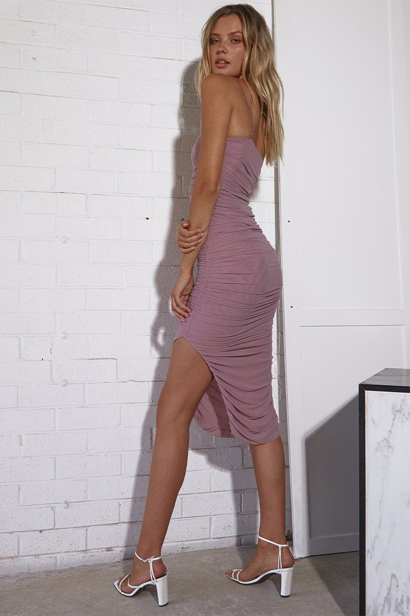 SIMONE DRESS - MAUVE