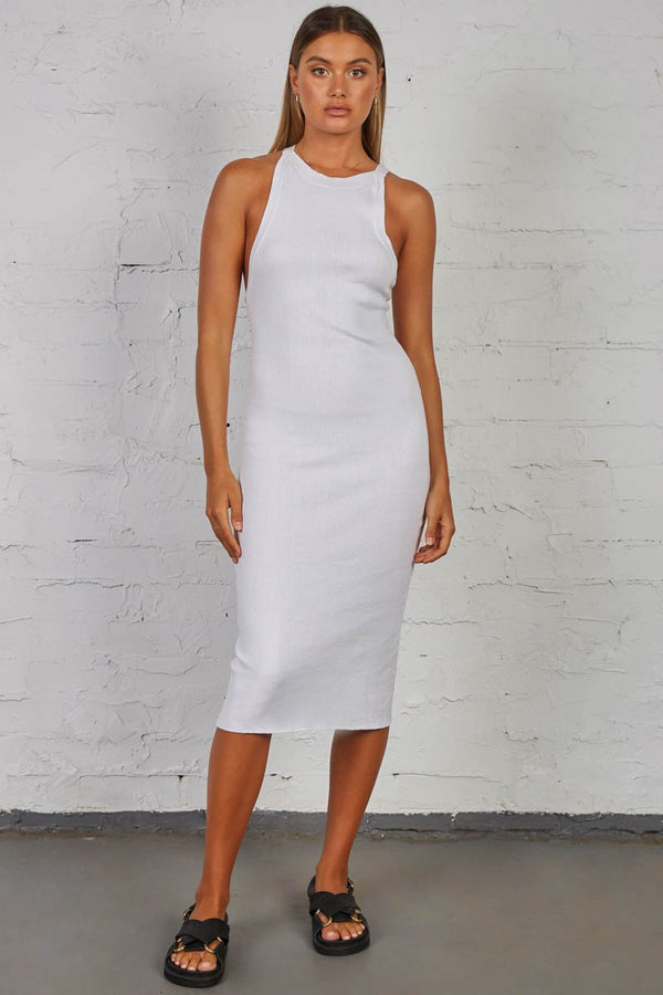 LUCID KNIT DRESS - WHITE