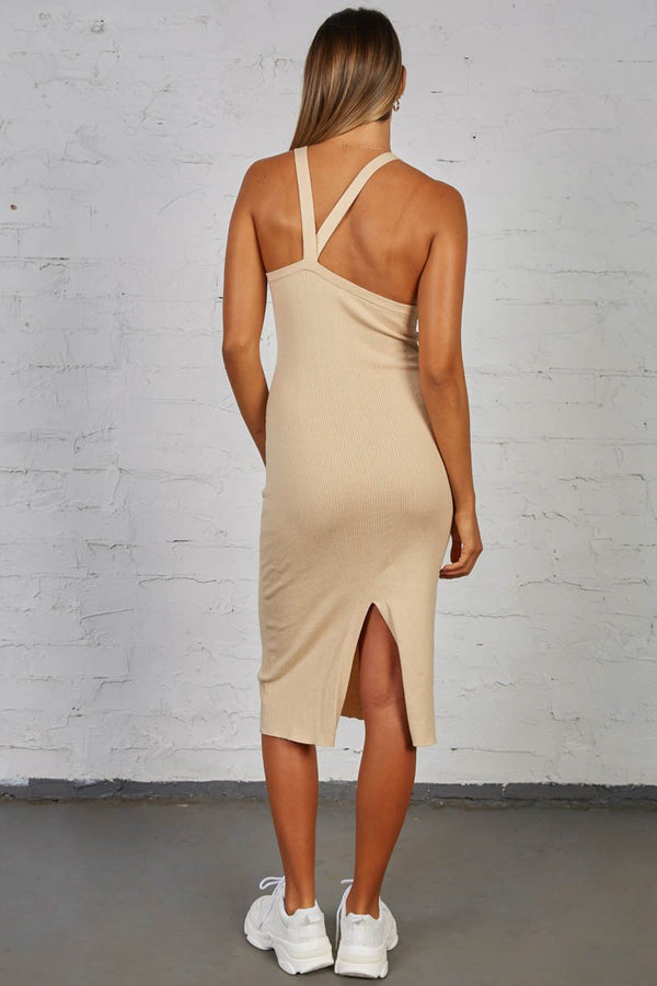 LUCID KNIT DRESS - SAND