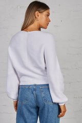 IZZY KNIT TOP - WHITE