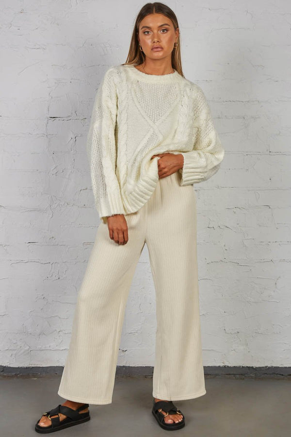CARRIE CABLE KNIT - CREAM