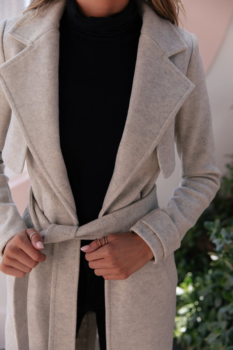 SOUTH COAT - GREY