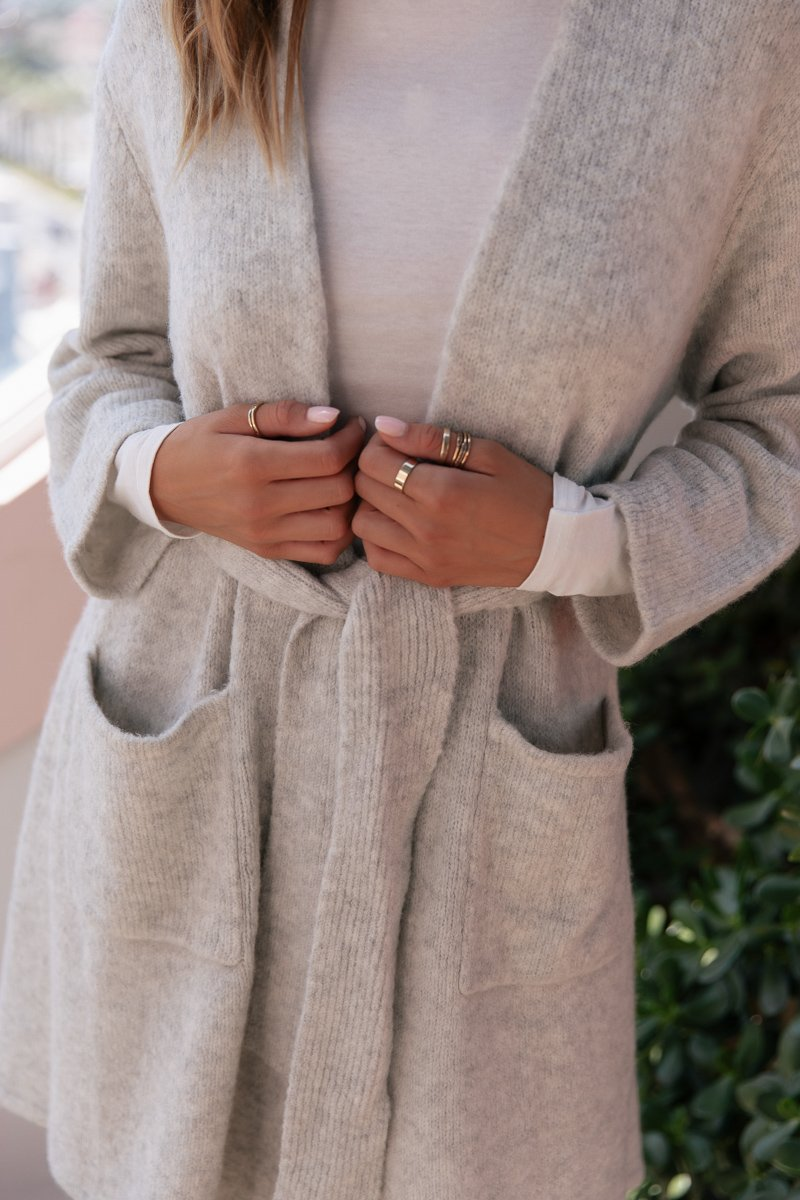 STEVIE CARDIGAN - GREY