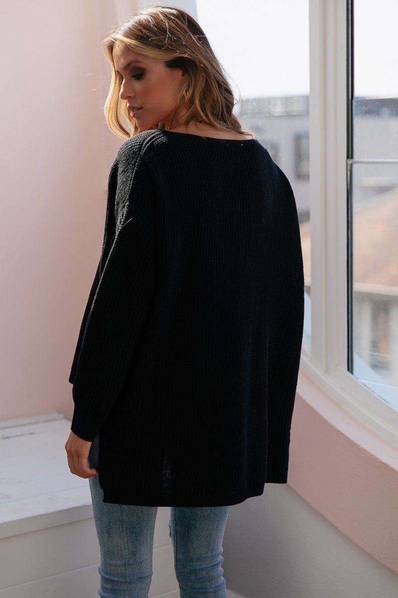 SUNDAY MORNINGS KNIT BLACK