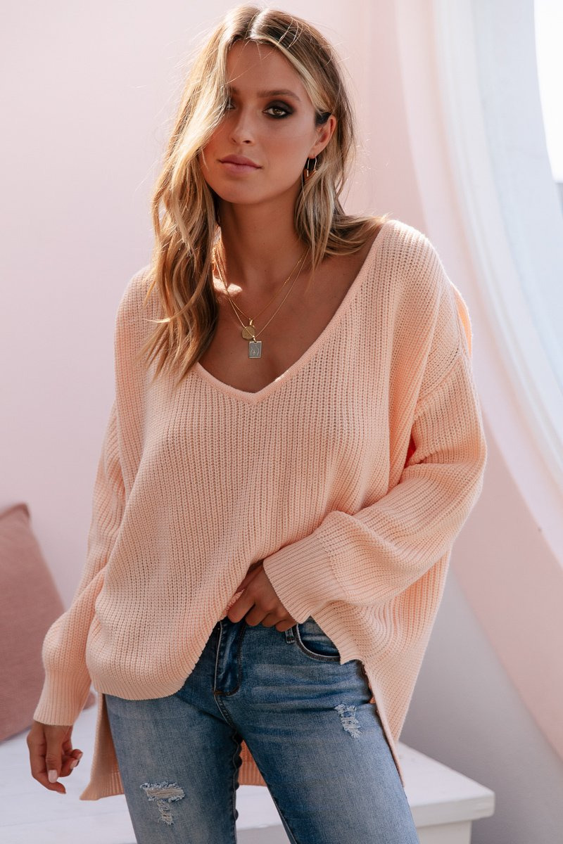 SUNDAY MORNINGS KNIT PEACH