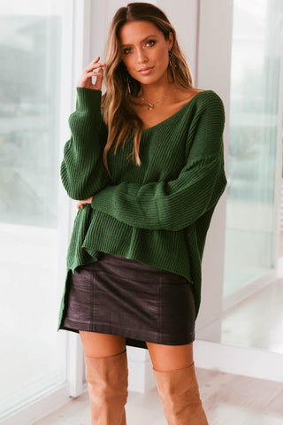 SUNDAY MORNINGS KNIT - GREEN - PRE ORDER