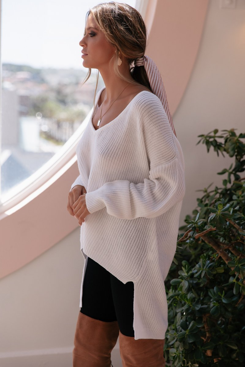 SUNDAY MORNINGS KNIT WHITE