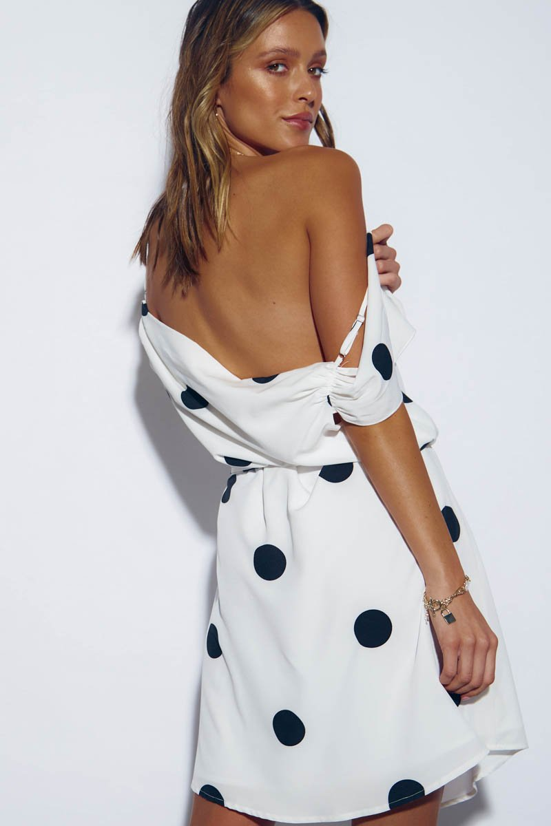 CASABLANCA DRESS - WHITE POLKADOT - PRE ORDER