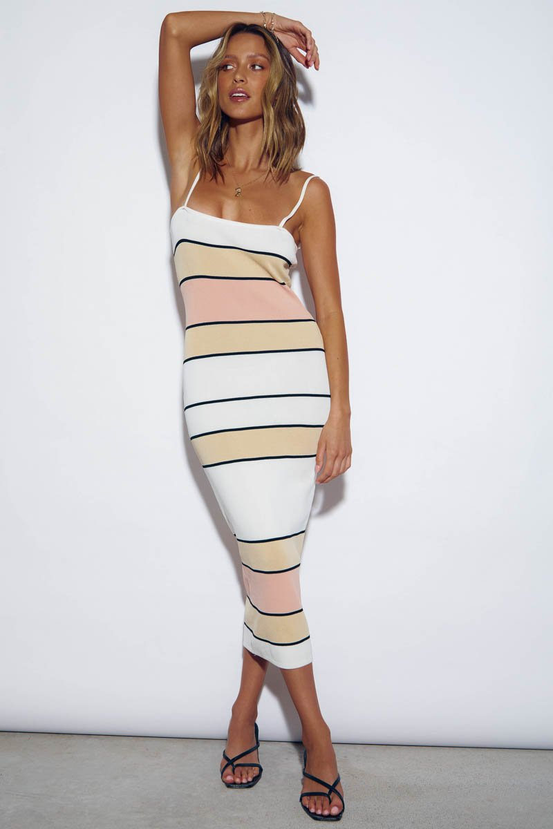 FLORIDA MIDI DRESS  - STRIPE