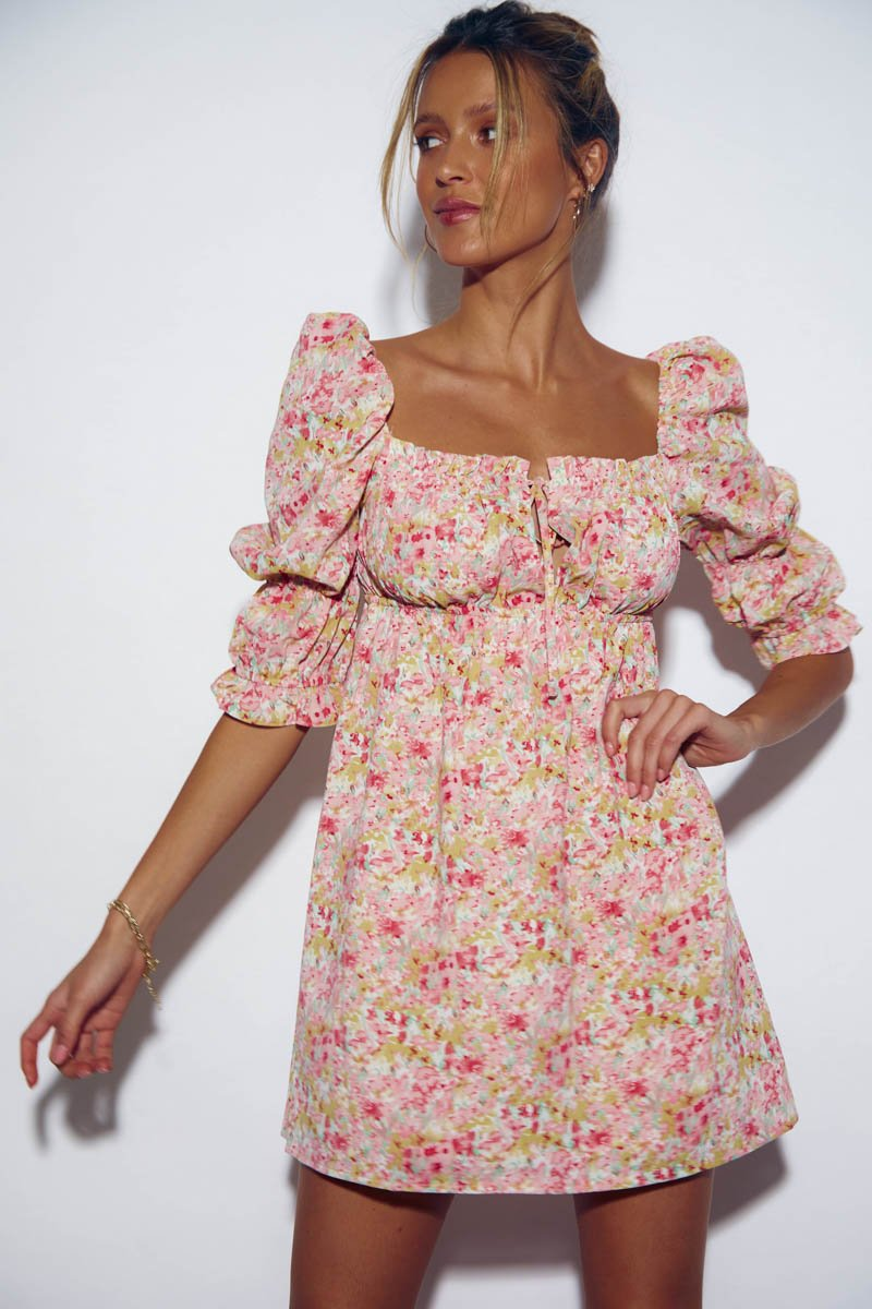 SICILY DRESS - SUNSET FLORAL- PRE ORDER