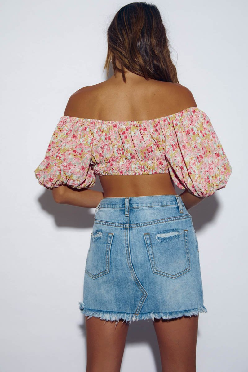 SICILY TOP - SUNSET FLORAL