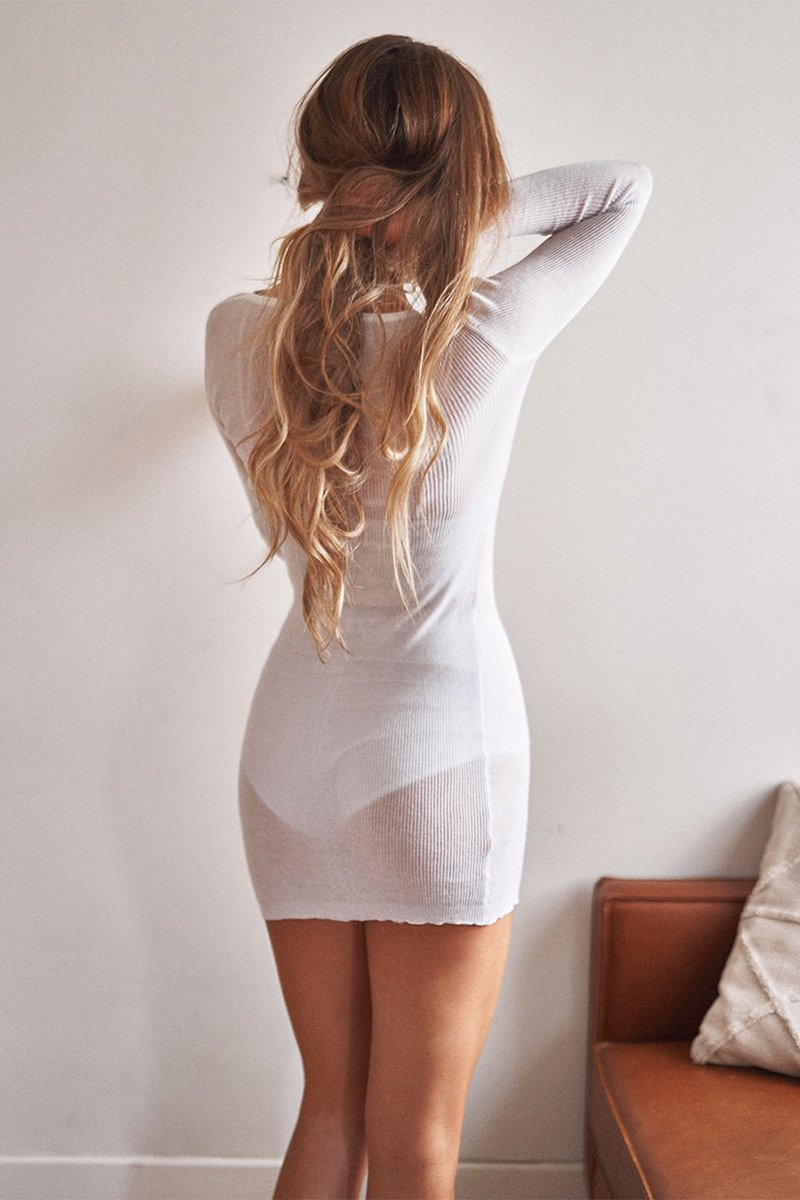 DHARMA MINI DRESS - WHITE