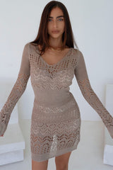 SHONA CROCHET MINI - TAUPE